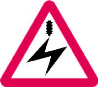 Electrified Overhead Cable Ahead